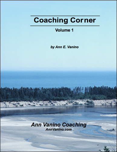 Coaching Corner, by Ann Vanino